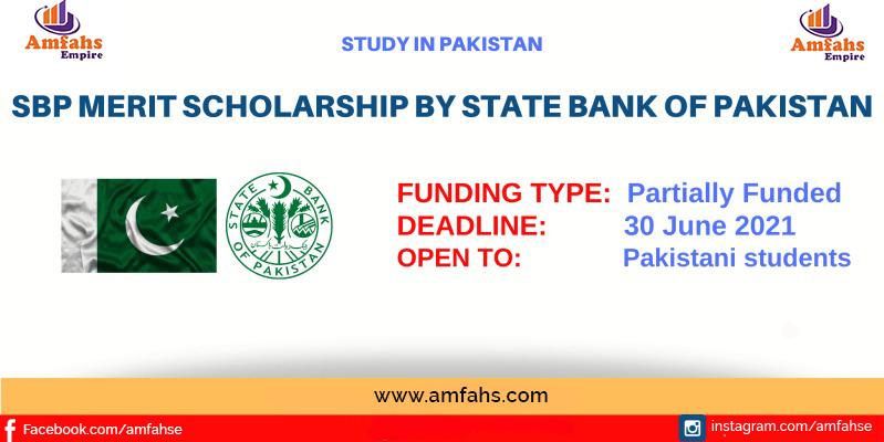 State Bank Pakistan Merit Scholarship-Amfahs